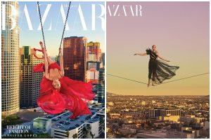 'Thót tim' ngắm mỹ nhân nóng bỏng Jennifer Lopez bay giữa không trung