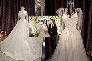 Cận cảnh hai chiếc váy cưới lộng lẫy trị giá 200 triệu của Diệp Lâm Anh