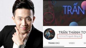 Trấn Thành chính thức trở thành nghệ sĩ hài đầu tiên nhận được nút vàng YouTube cùng nhiều kỷ lục gây choáng khác