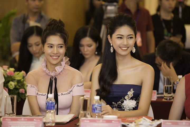 Chị Phạm Kim Dung - Phó trưởng ban tổ chức cuộc thi Hoa hậu Việt Nam 2018 và Á hậu Thanh Tú