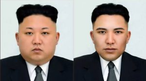 Tổng thống Kim Jong Un phiên bản khuôn mặt hoàn hảo
