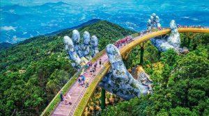 Cận cảnh cầu Vàng, cây cầu khổng lồ ở Đà Nẵng