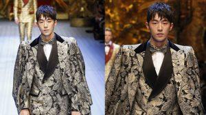 Nam Joo Hyuk đẹp như tượng tạc trong show Dolce & Gabbana (Ý)