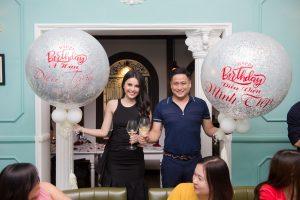 Á hậu Diệu Thùy đón sinh nhật bất ngờ cùng diễn viên Minh Tiệp