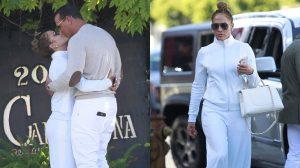 Jennifer Lopez và bồ trẻ hôn đắm đuối, quấn quýt không rời