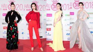 Hoa hậu Mỹ Linh diện cây đỏ trễ nải cá tính, Huyền My vẫn theo style nữ thần trong đêm thời trang thứ 2 của HHVN