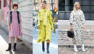 Đầm hoa, da báo, màu neon là những chiếc đầm của mùa Thu 2018
