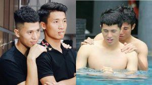 Những khoảnh khắc tình bể bình của 2 hot boy U23 Đình Trọng – Bùi Tiến Dũng, chẳng trách fan cứ ship nhiệt tình thế