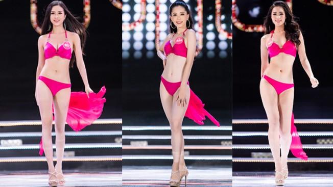 Chung kết Hoa hậu Việt Nam 2018: Top 25 trình diễn bikini nóng bỏng