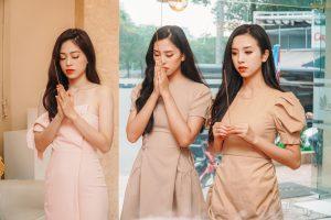 Top 3 Hoa hậu Việt Nam, Á hậu Diễm Trang xuất hiện xinh đẹp trong lễ giỗ tổ
