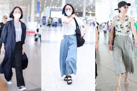"""Gu thời trang sân bay """"nhận không ra"""" của đại hoa đán Châu Tấn"""