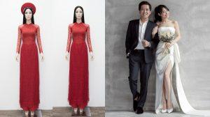 Lộ diện chiếc áo dài đẹp hoàn hảo Nhã Phương sẽ mặc trong lễ rước dâu
