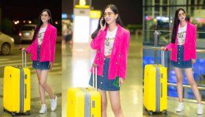 Hoa hậu Trần Tiểu Vy xinh lung linh tại sân bay trước giờ đi Pháp