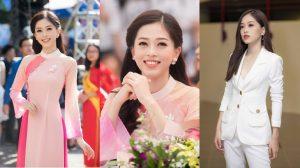Á hậu Phương Nga trở về trường trước khi lên đường tham dự thi Miss Grand International 2018