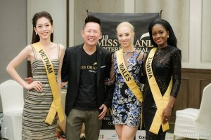 Diện đầm 2 dây quyến rũ, Phương Nga được Miss Grand International 2017 khen ngợi hết lời bởi làn da trắng không tỳ vết
