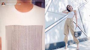 Đăng tải hình ảnh chiếc áo có dòng thông điệp nhạy cảm lên trang cá nhân, Tóc Tiên gây tranh cãi dữ dội