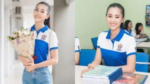 Hoa hậu Tiểu Vy về trường đại học, chính thức tham dự buổi học đầu tiên
