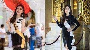 Diện trang phục truyền thống của nước chủ nhà đi lễ chùa, Á hậu Bùi Phương Nga lại tiếp tục rạng ngời với nụ cười tỏa nắng