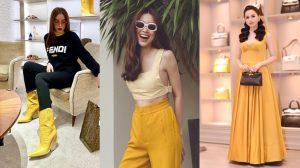 Vẫn chưa hết hot, màu vàng tiếp tục oanh tạc street style sao Việt