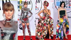 Thảm đỏ AMA 2018: Taylor Swift lấn át loạt mỹ nhân với váy disco, dàn sao Châu Á xuất hiện ngày càng đông đảo