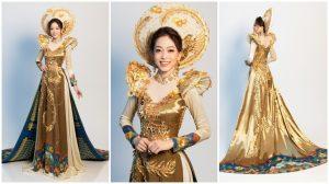 """Hé lộ bộ quốc phục """"Ngũ Phụng Tề Phi"""" mà Phương Nga sẽ trình diễn tại Miss Grand International 2018"""