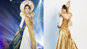 Nổi da gà với khoảnh khắc Á hậu Phương Nga diện trang phục truyền thống và hô vang Việt Nam trên sân khấu Miss Grand International