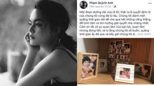 Viết tâm thư gửi công chúng sau ly hôn, Phạm Quỳnh Anh tiết lộ đã có ý định rẽ đôi từ lâu