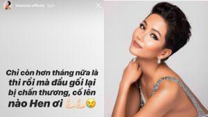 Chấn thương đầu gối trước thềm Miss Universe, H'Hen khiến fan đứng ngồi không yên