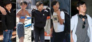 Sau 12 năm được nhận nuôi, Pax Thiên ngày càng chững chạc, ra dáng đàn anh bên các em
