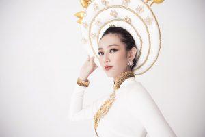 Hoa hậu Nhân Ái Thuỳ Tiên hé lộ trang phục truyền thống khi vừa lọt top 8 nổi bật Miss International 2018