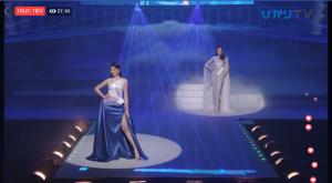 Diện đầm dạ hội lấy cảm hứng từ núi Phú Sĩ, Thùy Tiên kết màn mãn nhãn tại Miss International 2018
