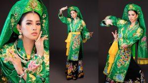 Hoa hậu Tiểu Vy 'lên đồng' trong phần thi Dances of the world