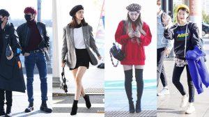 Thời trang sân bay thu đông sao Hàn: Người sành điệu hết nấc kẻ đơn giản xuề xoà