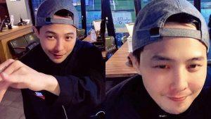 G-Dragon xuất hiện với mắt híp, má phính khiến fan giật mình