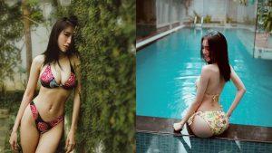 Hậu bị chê gầy gò, thiếu sức sống, Elly Trần tích cực đăng ảnh diện bikini bên hồ bơi, khoe hình thể căng tràn
