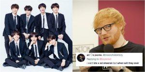 Ed Sheeran vô tình tiết lộ khả năng đang hợp tác với BTS