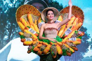 Sau nhiều cân nhắc, H'hen Niê đã quyết định chọn Bánh mì là trang phục truyền thống tại Miss Universe