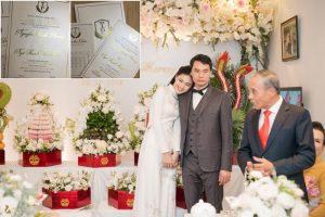 Rò rỉ thiệp cưới của Á hậu Thanh Tú với chồng đại gia
