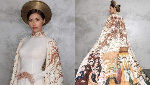 Minh Tú mang cả một bầu trời văn hóa dân tộc lên trang phục truyền thống tại Hoa hậu Siêu quốc gia