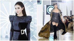 Gương vỡ lại lành Huyền My nhiệt tình cổ vũ Hoa hậu Kỳ Duyên làm vedette sàn catwalk