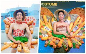 """H' Hen Niê """"té ngửa"""" với bộ cosplay trang phục dân tộc 'bánh mì Việt Nam"""""""
