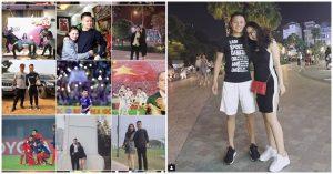 """Quang Hải chắc chắn là cầu thủ """"cuồng"""" người yêu nhất U23, up 10 tấm ảnh trên Instagram thì đến 9 tấm có bóng dáng của bạn gái"""
