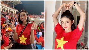 Hoa hậu Đỗ Mỹ Linh, Á hậu Huyền My: Những cổ động viên 'sáng' nhất trên sân Mỹ Đình