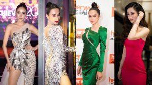SAO MẶC ĐỈNH: Angela Phương Trinh lồng lộn với váy sequin, Hương Giang nổi bật khi diện nguyên cây xanh lá