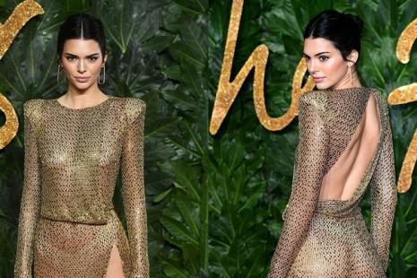 Kendall Jenner diện đầm xuyên thấu không nội y 'náo loạn' sự kiện