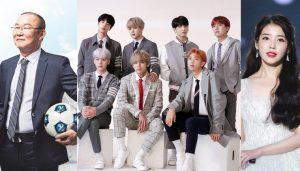 BTS, IU cùng HLV Park Hang Seo giành giải Nhân vật của năm