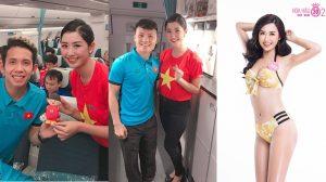 Người đẹp Hoa hậu Việt Nam khiến cư dân mạng 'ghen nổ đom đóm mắt' khi công khai thả thính với đội tuyển Việt