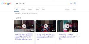 'Link 22p' không còn phổ biến nữa, giờ từ khóa đứng đầu phải là 'link 22p clip'