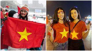 Á hậu Phương Nga, Thanh Tú gởi lời chúc đến đội tuyển Việt Nam trước giờ bóng lăn