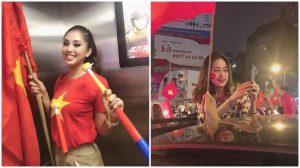 Hoa hậu Tiểu Vy, cùng hàng loạt người đẹp Việt lên đường đi bão ăn mừng chức vô địch của ĐT Việt Nam